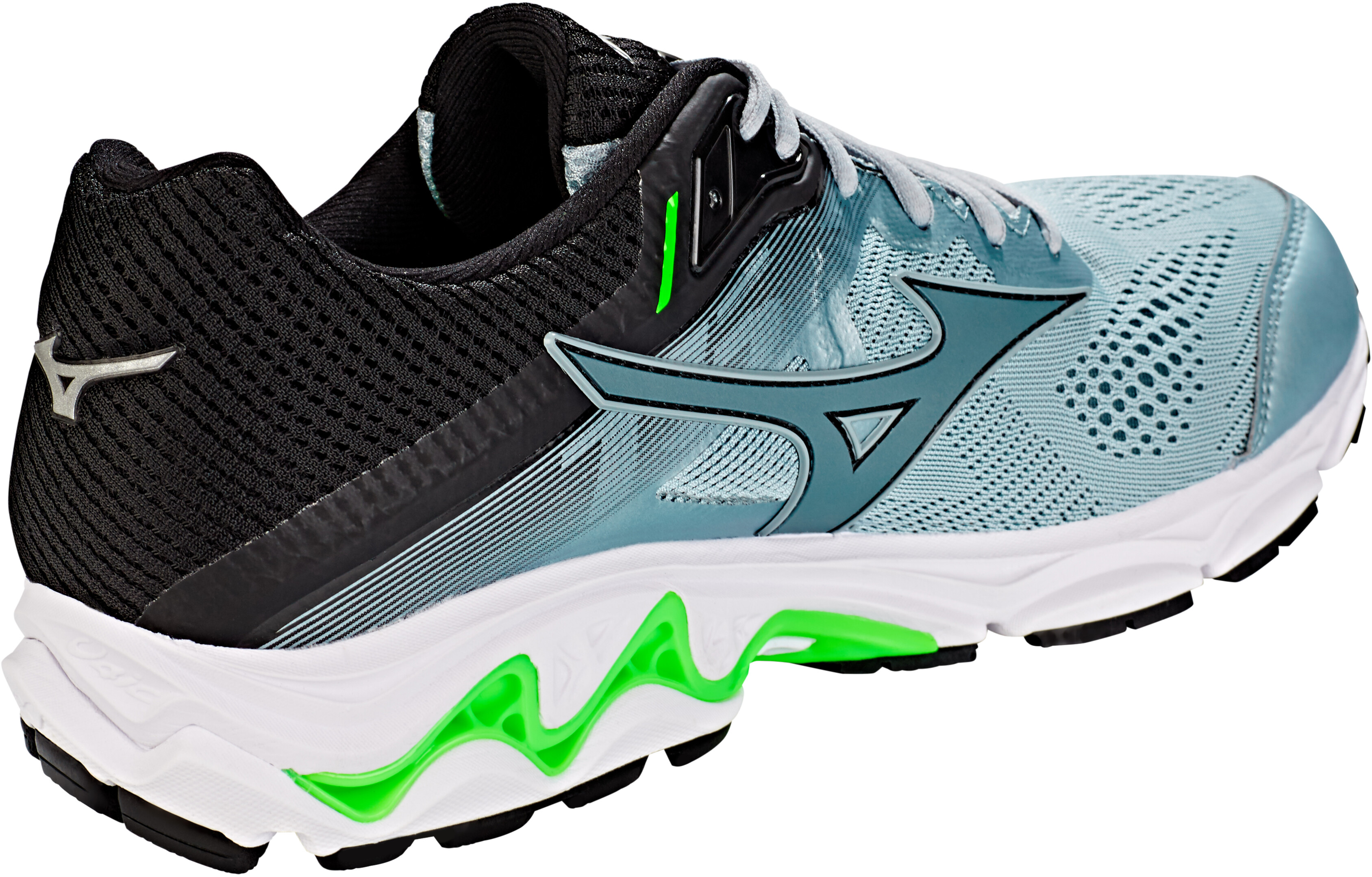 10839524154a Mizuno Wave Inspire 15 Running Shoes Men grey/green at Addnature.co.uk